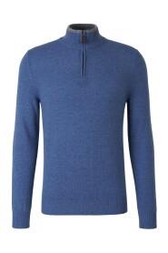 Zipped Cashmere Sweater