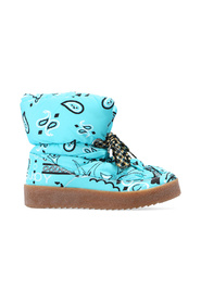 Snow boots with paisley motif
