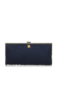 Oblique Canvas Clutch Bag