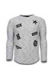 Sweater - Patches Biker Sleeves