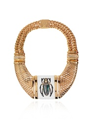 'The Bug' gold-plated necklace