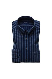 Slim Casual Shirt 28 INDIGO STRIPE