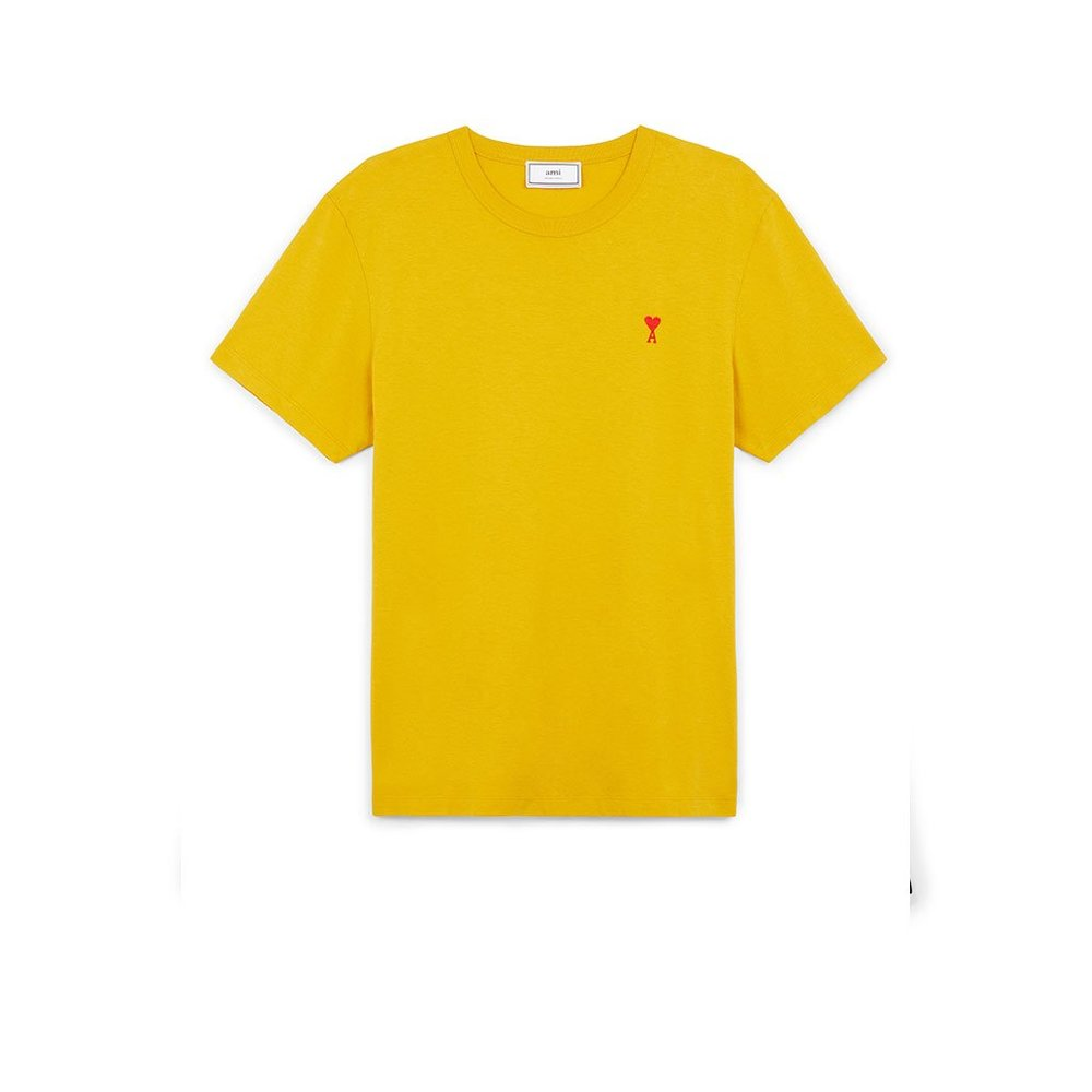 Crewneck Tee With Red AMI