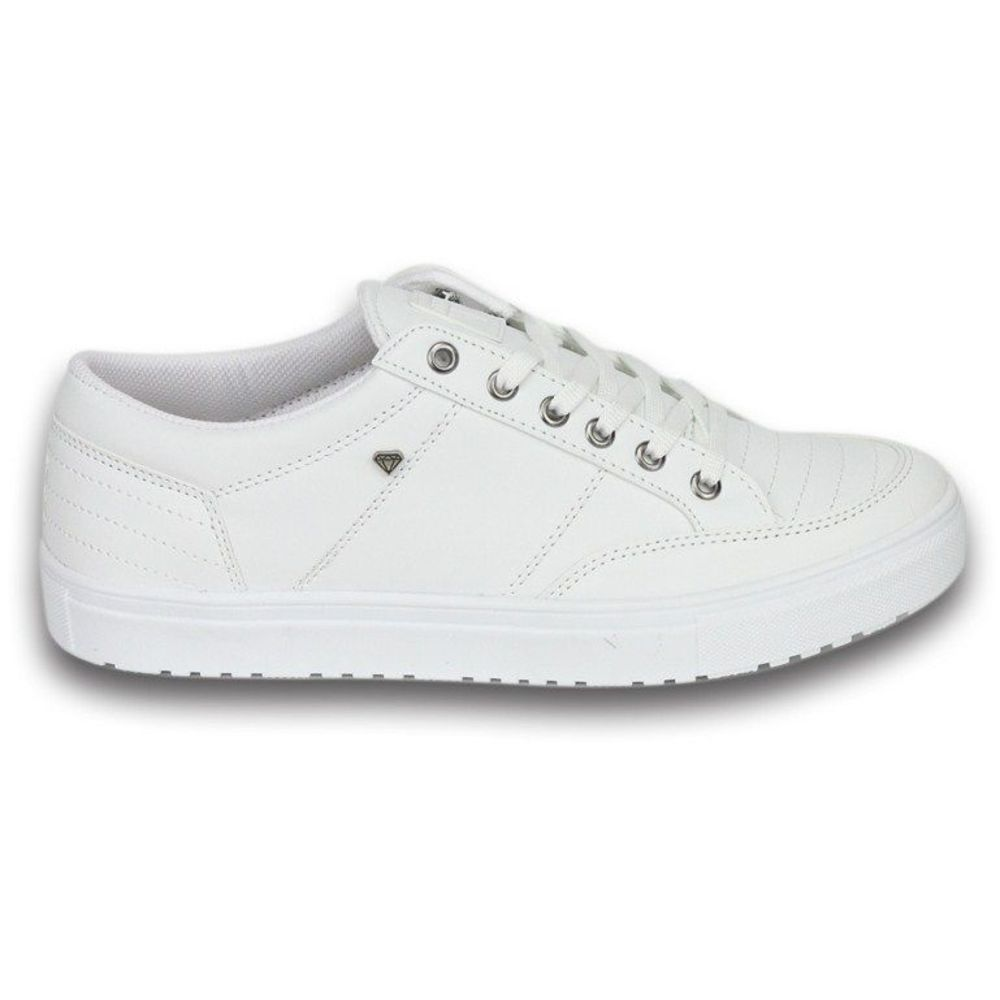White Low Top Sneakers | Cash Money