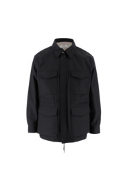 Parka with classic collar and hidden zip