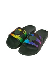 Camouflage rubber slider sandals