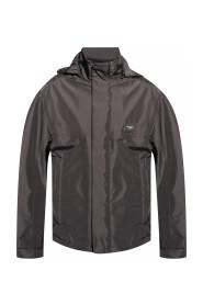 Logo-appliquéd jacket