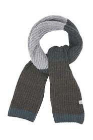 No Excess Scarf, multi colour blocking rib kn night Sjaals Blauw