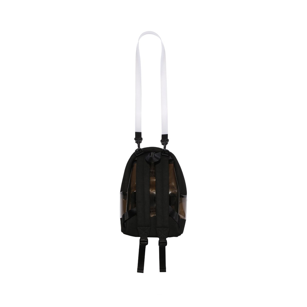Black Transparent Small Backpack | Nana-Nana | Rugzakken | Herentassen