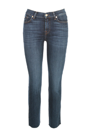 THE STRAIGHT CROP SOHO JEANS WITH RAW CUT