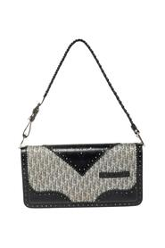Pre-owned Diorissimo Canvas and Leather Braided Strap Flap Baguette
