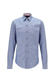 Stretch Oxford cotton slim fit shirt