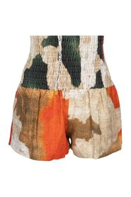 Natural Supreme Wall Printed Linen Shorts