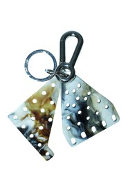 Marbled Enamel Key Ring