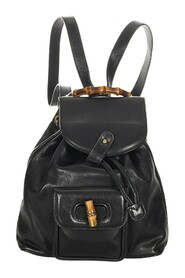 Pre-owned Bamboo Drawstring Backpack Leather Calf