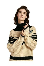 Pull WEYOND stripes ribs Pullover - Combo Off White