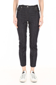 Jeans with flared hem