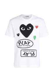 T-Shirt with black heart and logos