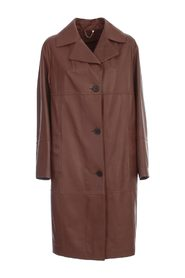LUX PLONGE LEATHER TRENCH