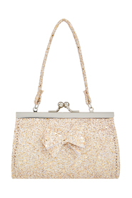 Giselle Glitter Bow Bag