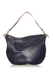 pre-owned Leather Hobo Bag Leather Calf