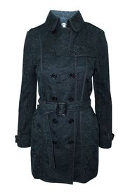 Lace Pattern Trench Coat