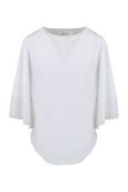 PLEATED BUTTERFLY SLEEVES TOP