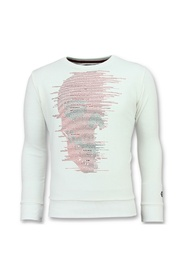 Skull Glitter - Leuke Sweater Heren