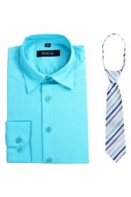 skjorte med flerfarget slips