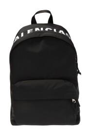 Wheel logo backpack