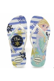 Havaianas - Klipklapper, Kids Slim Frozen - White / Royal