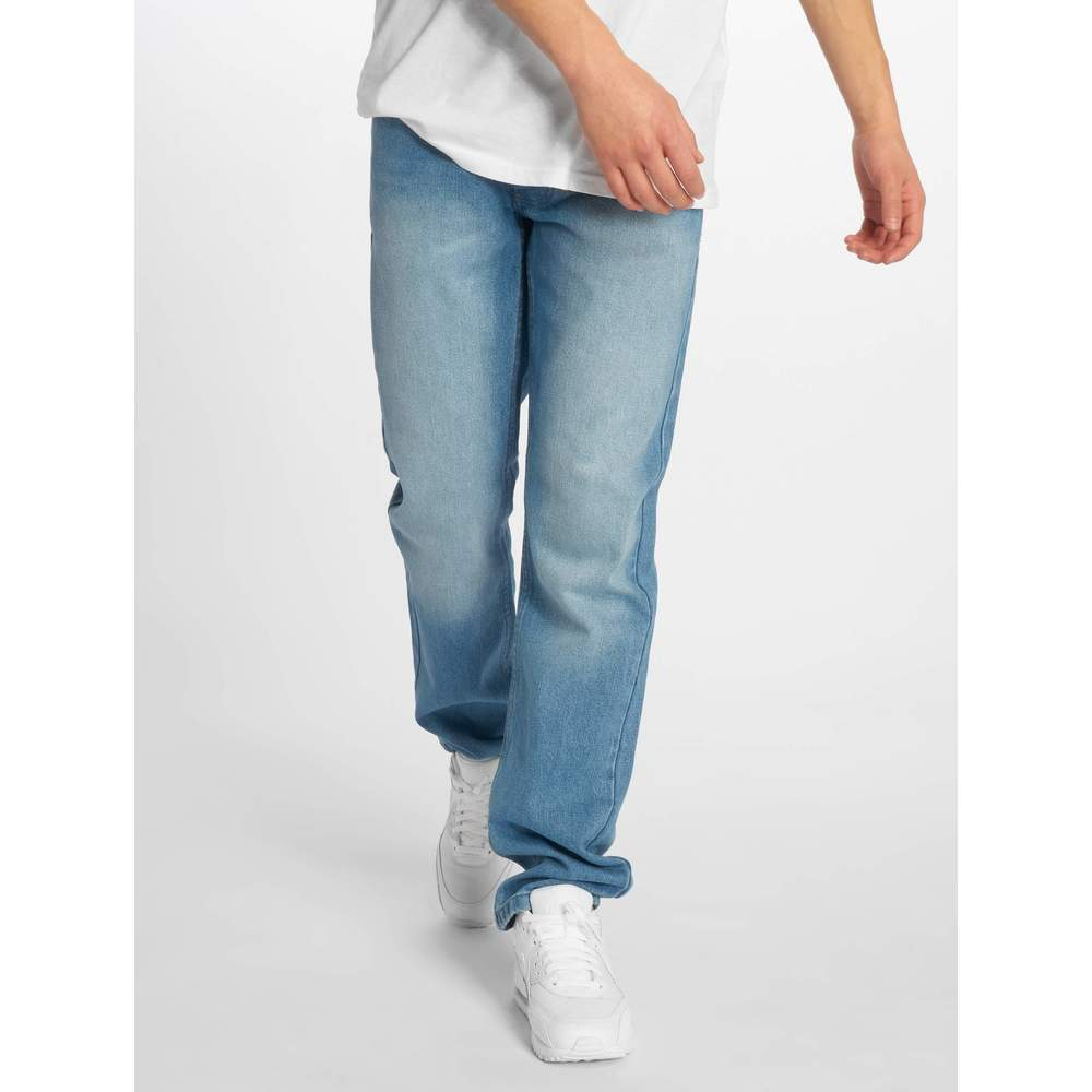 Rocawear / Straight Fit Jeans Moletro Læder Patch