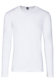 Alan Red Longsleeve stretch round neck Olbia White