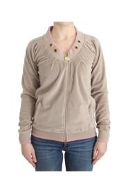 velvet zipup sweater