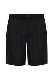 Ruched wool shorts