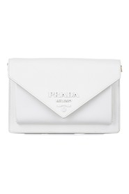 Logo Plaque Envelope Leather Crossbody Bag