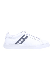 H365 sneaker in leather with 'h' in reflective material