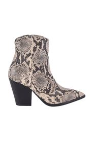 Snakeskin Texan ankle boots