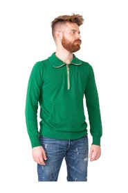 Emerald sweater with half zip