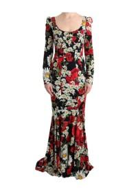 Silk Floral Silk Stretch klänning