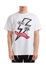 short sleeve t-shirt surrealist lightning bolt