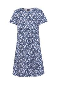 Marineblå Nattkjole Med Hvite Blomster Undertøy