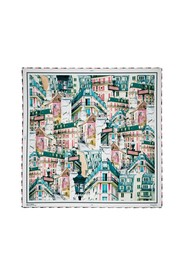 Abbesses printed square scarf