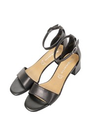 Leather Middle Heel Sandals