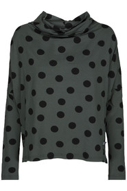 Dotted jersey blouse