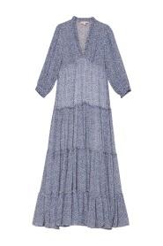 Delicate Semi Maxi Dress Petit Blue 2120521