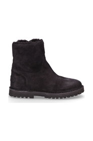 Ankle Boot Wool Lining Waxed Suede