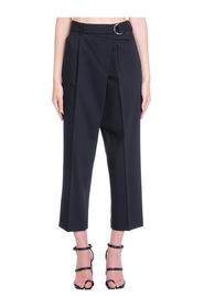 WOOL HIGH WAISTED PANTS WITH BELT