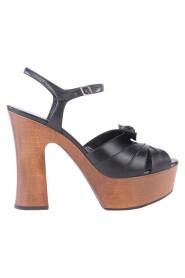 Brugte Candy Bow Platform Sandaler i læder