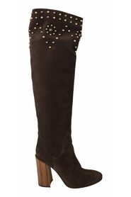 Studded Knee High Shoes Boots